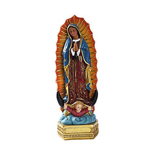 POHOVE Estatua Virgen De Guadalupe Virgen de Maria, Virgen María Cristiano Estatua, Estatuas Resina Estatuilla De Religioso Coleccionable Estatuilla De para Boda Escritorio Coleccionable Regalo