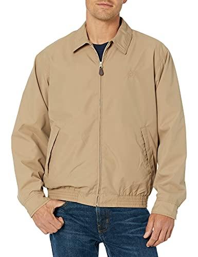 Chaps Men s Classic Fit Full-Zip Microfiber Jacket, Crawford tan, L