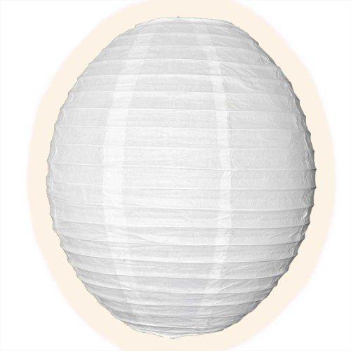 2,5 x 30,5 cm kawaii blanc Corps Lanterne en papier avec armature en fil