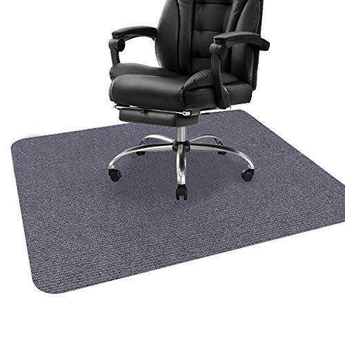 ping bu Stuhlmatte, Schreibtischstuhlmatte für Hartholzböden, Bodenschutzmatte, Bodenmatte für Bürostuhl, Mehrzweck-Stuhlteppich für Zuhause (90 x 120 cm, dunkelgrau)
