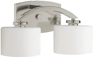 Langdon Mills 10200 Regent 2-Light Bathroom Vanity Light, Brushed Nickel