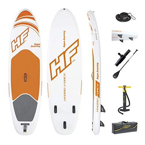 Bestway Hydro-Force Aqua Journey Inflatable SUP Stand Up Paddle Board with Paddle, Carry Bag and Pump
