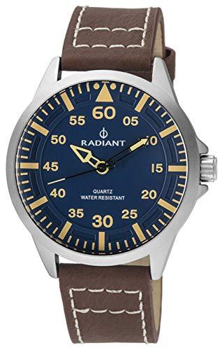 Reloj Radiant para Hombre con Correa Marron y Pantalla en Azul RA476603