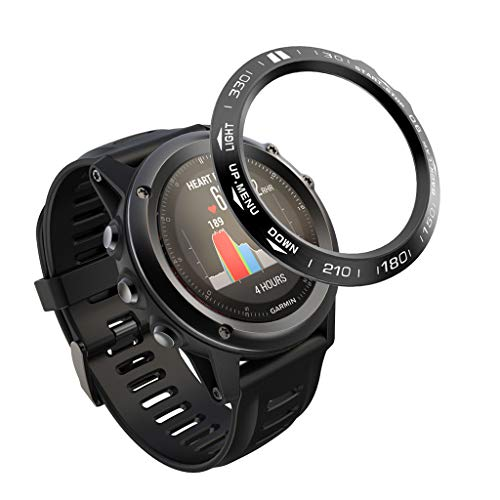 kdjsic Reemplazo de la Caja Protectora de la Velocidad de la Escala del dial de la Cubierta del Anillo del Bisel de Metal para el Reloj Inteligente Gar-min Fenix 3