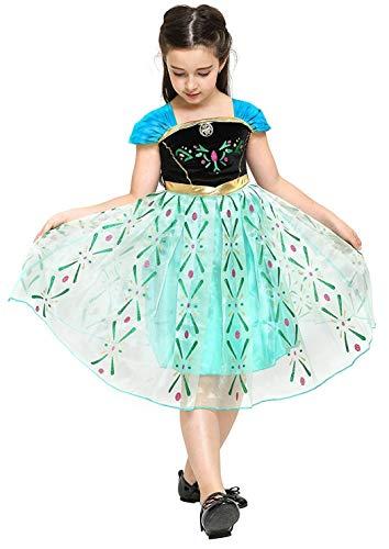 Maat 100-2/3 jaar - kostuum - carnaval - halloween - anna - meisje - groene kleur frozen