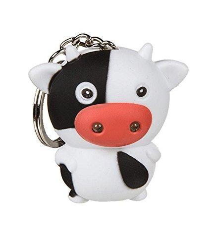 Schlüsselanhänger Kuh mit LED und Tierstimme 0916 ~