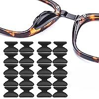 メガネ 鼻パッド,ノーズパッド シール 鼻あて シリコン 柔らかい メガネ跡防止 メガネ ずれ落ち防止 メガネ用 鼻あて 3Mテープ 20個セット 10ペア,1.8mm,ブラック
