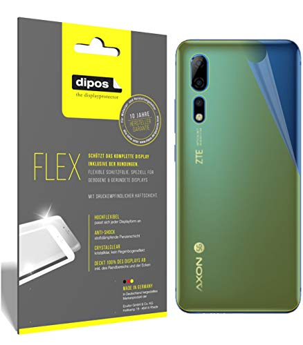 dipos I 3X Schutzfolie 100prozent passend für ZTE Axon 10 Pro 5G Rückseite Folie I 3D Full Cover Bildschirmschutzfolie