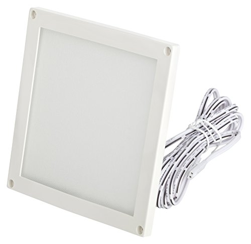 Panel LED mini ultra plano 12 V lámpara empotrable 3 W lámpara para parte inferior de muebles 100 x 100 x 5 mm