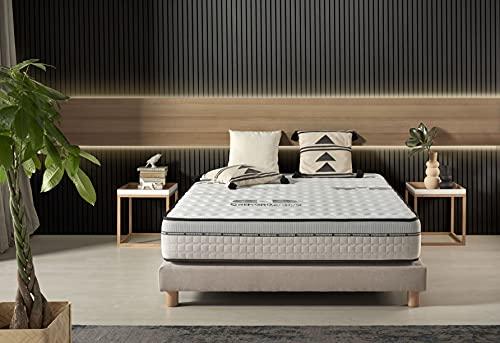Naturalex | Visco Carbone | Matratze 140x200 cm | Memory Foam Latex Active Carbon Mehrschicht | Premium-HR Perfekte Unterstützung | Anti-Stress Technologie | 7 Zonen Extra-Komfort | Airfresh System
