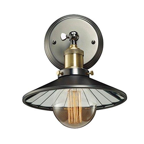 Klassieke wandlamp 1-flg ROTTERDAM W01161BK MIR Cosmo Light