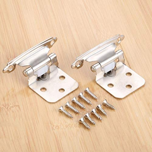 QFDM Cabinet Hinges 2 Pcs Max 87% OFF Overlay Self At the price of surprise Steel Clos