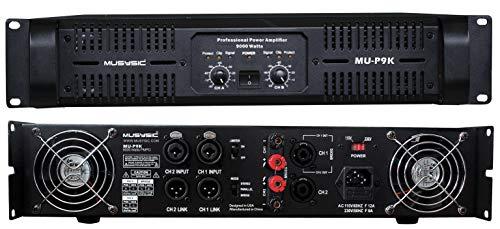 MUSYSIC Professional 2 Channel 9000 Watts DJ PA Power Amplifier Signal out MU-P9K