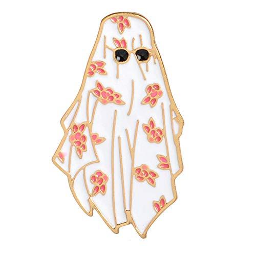 CUHAWUDBA Arabische Blume Wei?e Robe Sonnenbrille Brosche M?nner Jungen Kleidung Jacke Rucksack Pin Abzeichen Cartoon