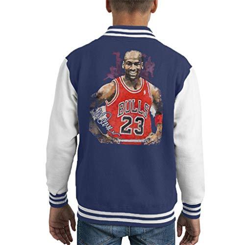 Sidney Maurer Original Portrait of Michael Jordan Chicago Bulls Vest Kid's Varsity Jacket