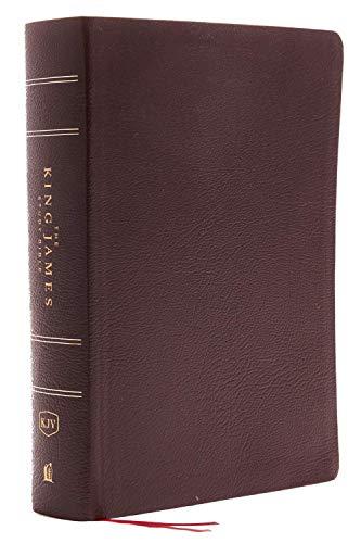 KJV, The King James Study Bible, Bonded Leather, Burgundy, Red Letter, Full-Color Edition: Holy Bible, King James Version