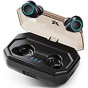 Bluetooth Kopfhörer Kabellos Axloie Ohrhörer Bluetooth 5.0 in Ear 130H Spielzeit Automatische Kopplung IP65 Wasserdicht Headset Wireless Sport HD Stereo Mikrofon für Gym Joggen Work