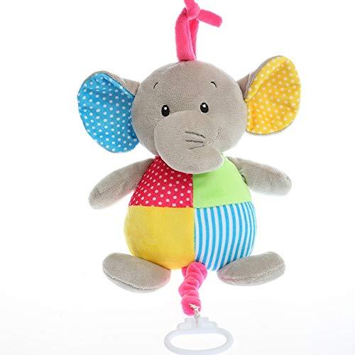 FDRE 26 cm Lindo Conejo música muñeca de Peluche Suave Acolchado sueño Relajante Nana Juguete niños bebé Regalo Elefante