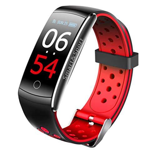 Z11C Bluetooth Smart Armband Fitness Tracker Uhr IP68 Wasserdichte Schlaf Monitor Smart Armband mit intelligentem Herzfrequenz Blutdruckmessgerät (rot)