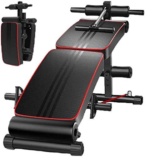 mjj Banco de pesas plegable multifunción, banco de pesas ajustable, soporte de espalda estándar, aparatos de fitness