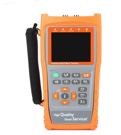 YXMSCMULTITEC - Comprobador de CCTV LCD de 3,5 Pulgadas TVI CVBS analógico para cámaras UTP, probador de Cable de Prueba de cámara AHD, Monitor de Seguridad con Control PTZ con Linterna