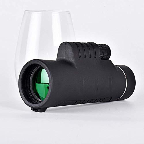 Binoculares para adultos, telescopio, monocular 10X40, telescopio cámara teléfono móvil alta potencia y alta definición, más adecuado para observación aves, viajes, caza, visualización conciertos ma