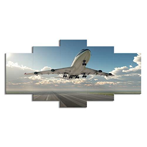 Vliegtuig vliegen in de lucht Hd Print woonkamer woondecoratie schilderij muur