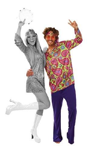 Rubie's officiële hippie volwassenen kostuum uit de jaren '70 voor heren, eenheidsmaat