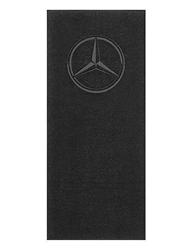 Mercedes-Benz, Dusch- und Strandtuch schwarz, 100% Baumwolle