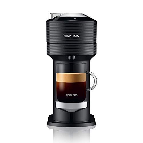 Nespresso, Nueva Cafetera Vertuo Next, Color Classic Dark (Incluye obsequio de 12 cápsulas de café)
