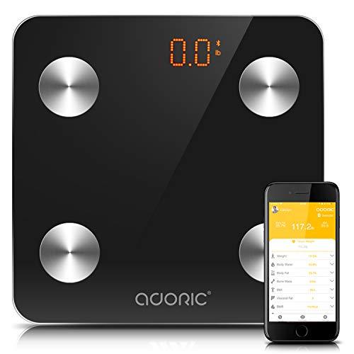 41KWU4bx9eL - Báscula Grasa Corporal Bluetooth Más de 8 Funciones, Báscula Analógica Monitores de composición corporal Para Móviles Andriod y iOS (Negro)