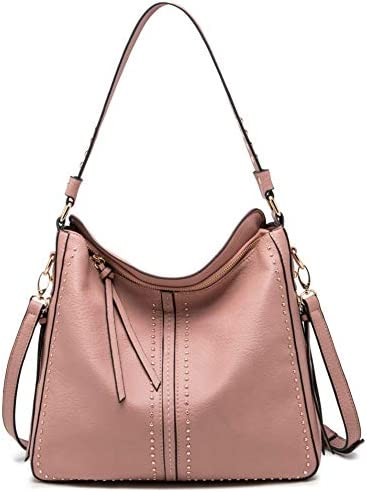 Montana West Large Leather Hobo Handbag for Women Concealed Carry Studded Shoulder Bag Crossbody product image