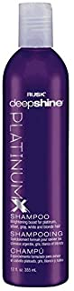 RUSK Deepshine Platinum Shampoo, 12 Oz, Gentle Cleansing Shampoo, Brightening Boost for Platinum, Silver, Gray, White, and...