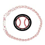 Baseball Rope Necklaces for Boys - Three Braided Sport Titanium Tornado Necklace with Strength Bible Verse Phone Kickstand for American Baseball Player, Softball Fans (White+Phone Stand)