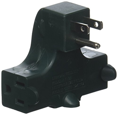 IIT 26815 Right Angle Wall Tap - 3-Outlet Splitter - Ul Listed - Behind Furniture,