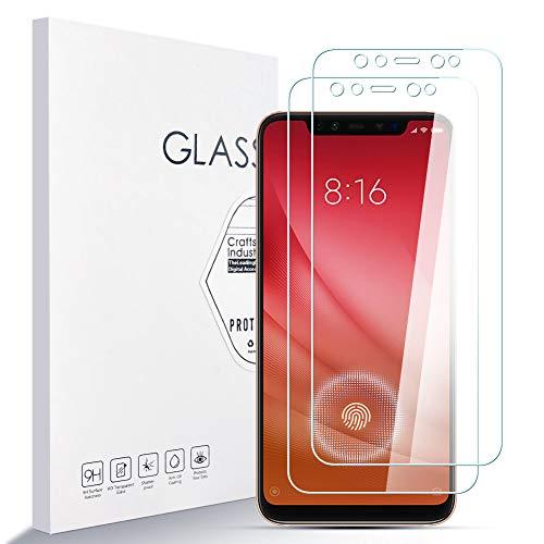 LZS Panzerglas Schutzfolie für Xiaomi MI 8,9H Festigkeit Glas Super Langlebig, Anti-Öl,Schutzfoliefolie Bildschirmschutz Bildschirmschutzfolie für Xiaomi MI 8 2 Stück