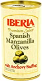 Iberia Spanish Olives Stuffed with Anchovies, 5.25 Oz (Pack of 12)...