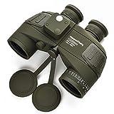 Binoculares de Alta definición Telescopio de brújula náutico a Prueba de Agua 10x50 con...