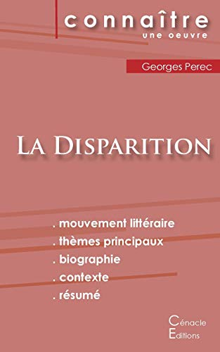 Fiche de lecture La Disparition de Georges Perec (Analyse littéraire de référence et résumé complet)