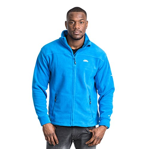 Trespass Bernal, Electric Blue, XL, Warme Fleecejacke 300g/m² für Herren, X-Large, Blau