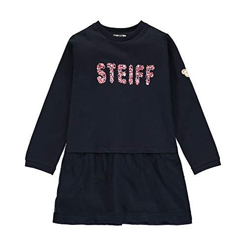 Steiff Mädchen mit Teddybärprint Kleid, Blau (Black Iris 3032), (Herstellergröße: 104)