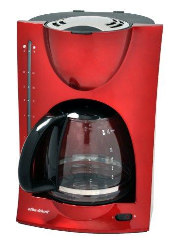 Efbe-Schott Filter-Kaffeemaschine, 1,5 l Fassungsvermögen, Glaskanne, Für bis zu 12 Tassen, 900 W, Rot, SC KA 1050 R, Metallic-rot