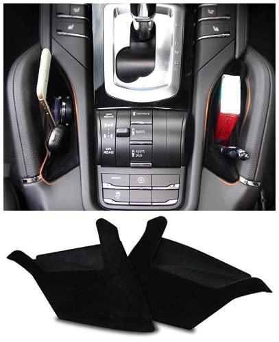 Salusy Interior Car Center Console Seat Side Storage Box Holder Organizer Compatible for Porsche Cayenne 2011-2018