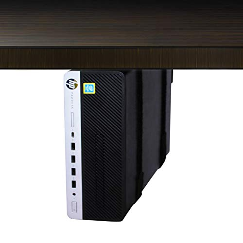 HumanCentric Adjustable SFF Computer Mount - Under Desk and Wall Mount Bracket for Small Form Factor PC Desktop Towers | CPU Holder with Adjustable Straps