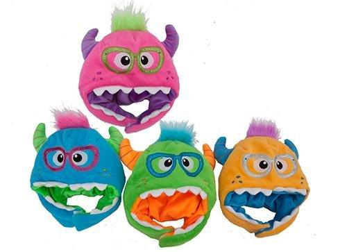 Monster Fantaisie Chaud doublé en Polaire Chapeau – en Rose, Bleu, Vert ou Orange