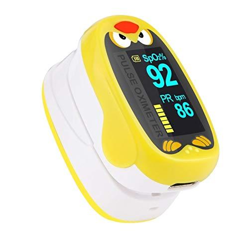 YMJJ Pädiatrisches Finger-Pulsoximeter Neugeborene Blutsauerstoffsättigung Kinder Kinder Wiederaufladbares USB-Säuglingsoximeter,Gelb
