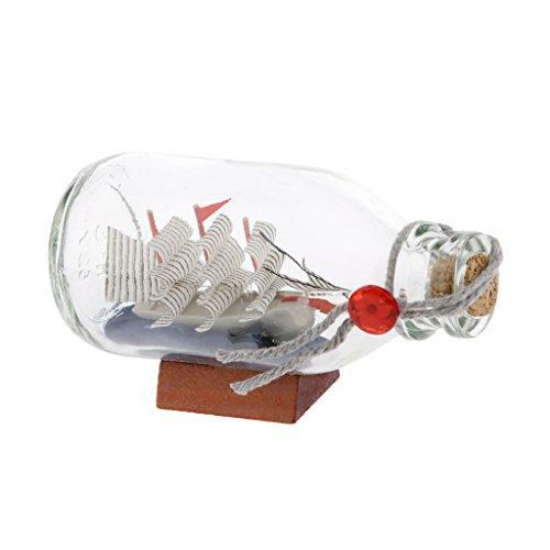 H HILABEE Frascos Portadores de Mensajes de Botellas de Deseos de Vidrio Transparente con Tapón de Corcho Y