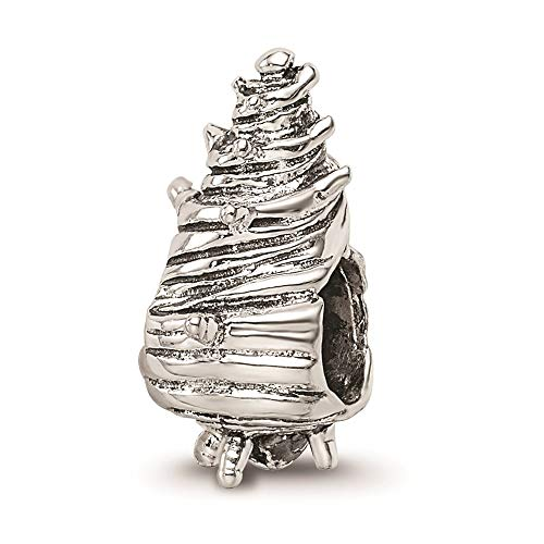 925 Sterling Silver Charm For Bracelet Sea Shell Mermaid Nautical Jewellery Bead Animal Beach Fine Jewellery For Women Mothers Day Gifts For Her
