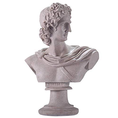 L.TSN Apollo Sculpture Statue Ancient Greek God of Sun Figurine Ornament Home Office Decoration Collection Gift, A.