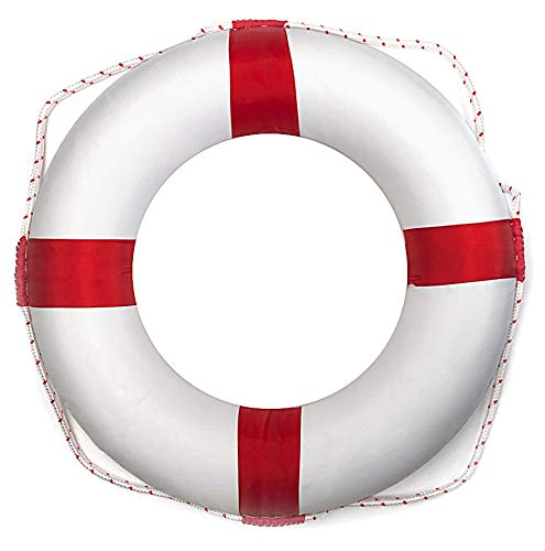 motawator 20inch/51cm Diameter Swim Foam Ring Buoy Swimming Pool Safety Life Preserver W/Nylon Cover Kid Child Adult
